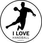 I love Handball (Samolepka pro házenkáře)