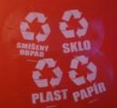 Plast (kulatá průhledná samolepka, bílý tisk)