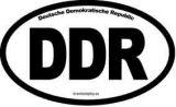 Samolepka na auto DDR