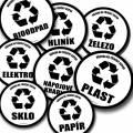 Tříděný odpad samolepky (bílé)